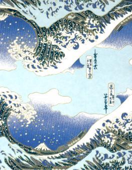 Japanpapier Chiyogami, Hokusai  Welle von Kanagawa