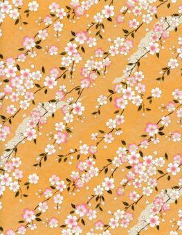 Japanpapier Chiyogami, zarte Kirschblüten 30cm23cm