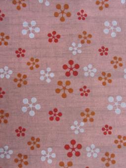 Japanpapier Chiyogami, Plaumenblüte auf Rosa