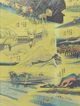 Japanpapier Chiyogami, Hokusai unterwegs in Japan