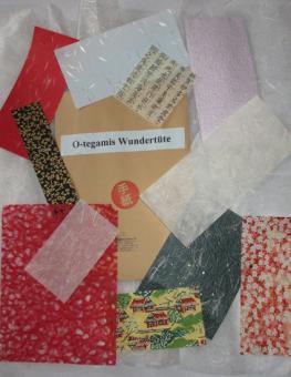 Japanpapier Wundertüte, verschiedene Papiere