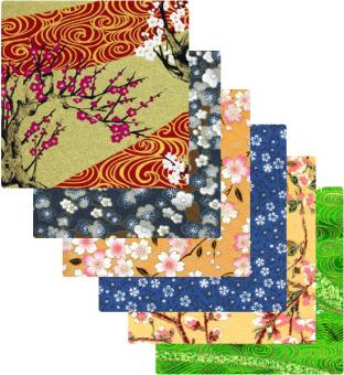 Japanpapier Origami,  Frühling
